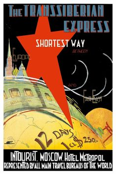 Vintage Travel Poster - Trans Siberian : The Chart & Map Shop Vintage Travel Posters, Vintage Ads, Trans Siberian, Map Shop, Wanderlust, Railway Posters, Kingdom Of Great Britain, Tv Ads, Printing Companies