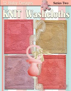 Knitted Dishcloths Baby Theme