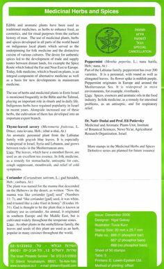 2006 Medicinal Herbs and Spices   Description
