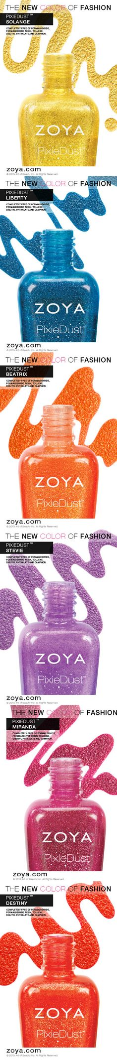 The Zoya PixieDust Collection - Summer 2013 Edition