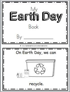 Free Earth Day Mini Book for Kindergarten and spring. Teach a little about Earth Day this April. This mini-book can help. Read the book with students, Earth Day Worksheets, Earth Day Activities, Preschool Worksheets, Printable Worksheets, Spring Activities, Free Printable, Earth Day Projects, Earth Day Crafts, Kindergarten Science