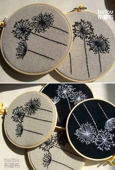 dandelions-make a dark pillow to go with the neutral ones already have.
