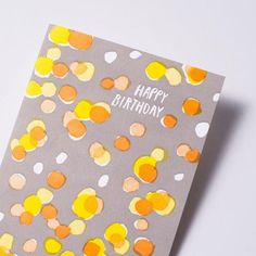 happy birthday dots