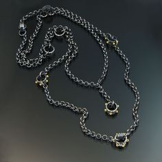 oxidized sterling silver 22kt gold