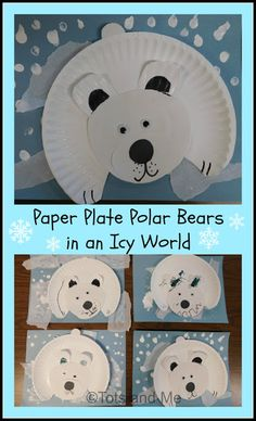 Tots and Me. Growing Up Together: Littles Learning Link Up: February Paper Plate Polar Bear in an Icy World Bear Crafts Preschool, Preschool Art Projects, Art Activities For Toddlers, Polar Bear Crafts, Preschool Rules, Igloo Craft, Artic Animals, Friend Crafts, Winter Crafts For Kids