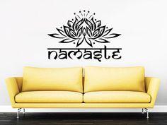 Wall Decal Namaste Vinyl Sticker Decals Art Home Decor Mural Mandala Ornament Indian Geometric Moroccan Pattern Yoga Lotus Flower Om #22