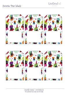 GRATIS ZWARTE PIET LABELS (ZELF PRINTEN) - Sinterklaas / Kerst (feestdagen) - Freebies / Free printable www.lintland.nl
