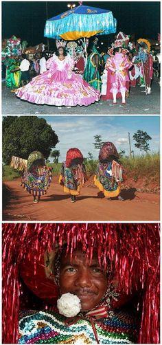"""Uma apresentação do """"Maracatu Rural"""" deixa qualquer um encantado. Como o nome já diz é da zona rural do estado, seu principal personagem é o coloridíssimo 'caboclo de lança' que traz consigo um certo mistério."""