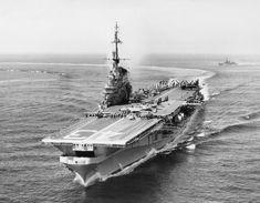 Midway Class USS Coral Sea (CVA-43) as she originally appeared before modernization