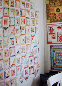 QuiltBee: another Sarah Fielke - this was on her design wall in a spread in Quilting From Little Things