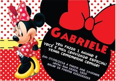 Lollita Cereja: Festa personalizada Minnie Vermelha