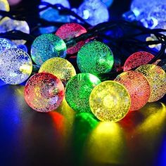 EShing 16ft 20 LED Waterproof Multi-color Crystal Ball Solar Powered Globe Fairy String Lights for Outdoor, Yard, Garden, Home, Garden, Path, Chrismas Day, Landscape Decoration (Multi-color) EShing http://www.amazon.ca/dp/B018AJQJPM/ref=cm_sw_r_pi_dp_hpfzwb1HXW5PV