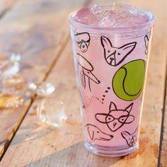 Starbucks Tumbler - Doodle Dog Cold Cup, 16 fl oz