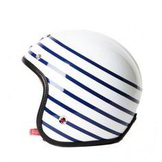 Sweet striped motor bike helmet
