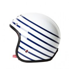 Sweet striped motor bike helmet