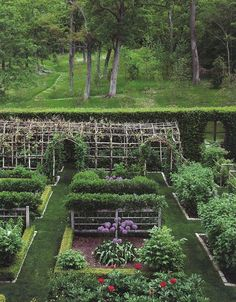 The vegetable and cut flower gardens at Rock Cobble Farm.