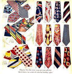 Vintage Mens Ties (1946) #vintageclothing #1940s #mensfashion #vintagecatalogs from RetroWaste.com