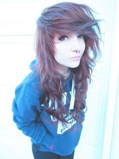 Hair / cute / brun / emo / scene / naturel