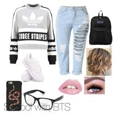 """""""Bts inspired outfits"""" by rachelullmann03 on Polyvore featuring adidas Originals, Reebok, JanSport and Gucci"""