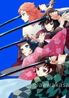 Kimetsu no Yaiba (Demon Slayer) Image - Zerochan Anime Image Board Manga Anime, Fanarts Anime, Otaku Anime, Anime Art, Anime Angel, Anime Demon, Demon Slayer, Slayer Anime, Corpse Party