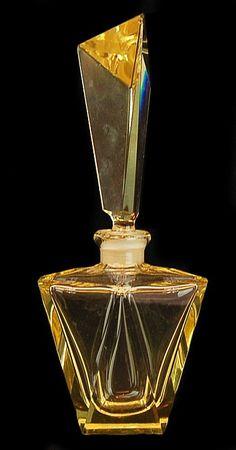 Vintage Gold Art Deco perfume scent bottle