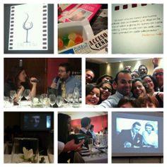#wineandtwitsdecine un evento que combinó a la perfecciónvino, cine, gastronomía... en #PuebloAcantilado :-)