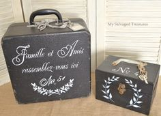 stenciled cases ~~ from My Salvaged Treasures