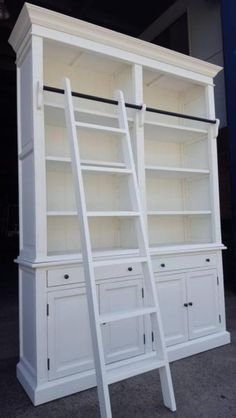 IMPORTANT We close from reopen on July Brand New French Provincial Library Bookcase Shelf Cabinet Model Made from Birch and plywood . Bookcase Shelves, Ladder Bookcase, Display Shelves, Book Shelves, Library Cabinet, Book Cabinet, French Decor, French Country Decorating, French Provincial Home