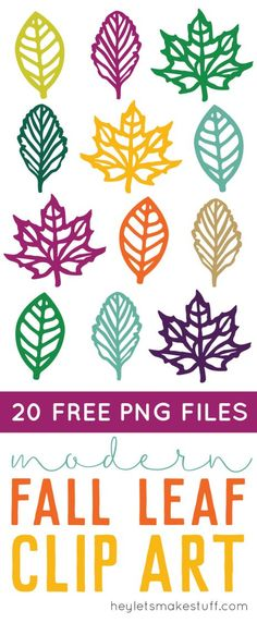 This festive and colorful set of fall leaf clip art is just what you need for all of your creative autumn projects! Use them on cards, invitations, artwork, and more!