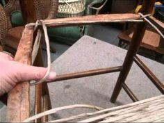 How To Weave Rush Style Seat Using Paper Cord.  You can do this.  Seal with shellac or a boiled linseed oil and turpentine mix.