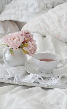 herb tea - breakfast in bed