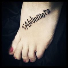 harry potter tattoo, I should get something like this on my other foot