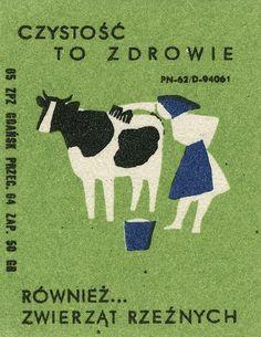 Illustration Design Graphique, Art Graphique, Illustration Art, Matchbox Art, Cow Art, New Year Card, Vintage Labels, Vintage Travel Posters, Grafik Design