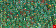 Dit lukt echt bijna niemand: spot jij het verstopte vogeltje tussen de kerstbomen?