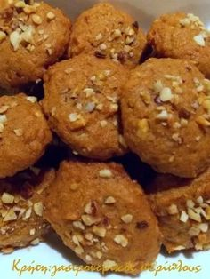 Meals Without Meat, Greek Cookies, Vegetarian Recipes, Cooking Recipes, Greek Sweets, Healthy Cake, Greek Recipes, Tasty Dishes, Food Porn