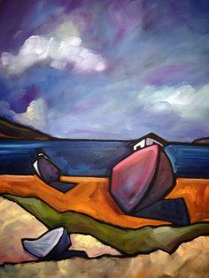 Michael McGuire (Contemporary) - Cape Cod 2 #michaelmcguire #seascapes #oilpaintings #capecod