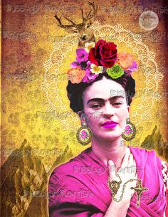 NEW Frida Kahlo 4 Digital art Download