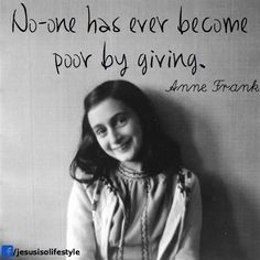 """Inspirational quotes by famous women: ANNE FRANK """"In spite of everything I still believe that people are really good at heart. Mormon Baptism, Anne Frank Quotes, Pin Up, Thats The Way, Famous Women, Photos Du, How To Run Longer, Journaling, Strong Women"""
