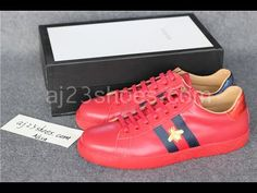7602a5290adf04 Brand Ace Embroidered Sneaker Low Top (Red) Review Unboxing from  aj23shoes.com