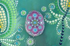 Coldarra - hand-painted stone - mandala by AnjaSonneborn on Etsy https://www.etsy.com/au/listing/513667739/coldarra-hand-painted-stone-mandala