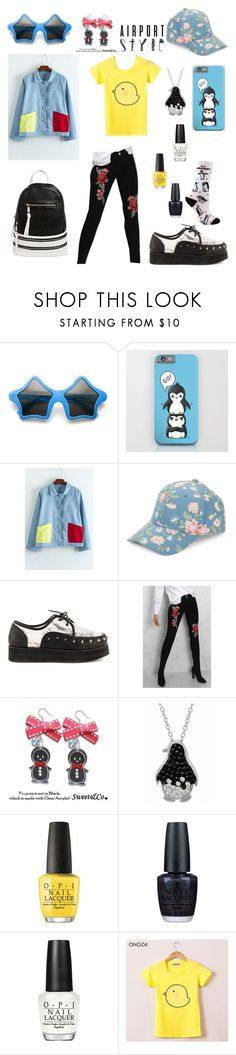 """""""Not So Flightless After All"""" by tofumint ❤ liked on Polyvore featuring WithChic, BCBGeneration, Iron Fist, Rare London, Sweet & Co., Amanda Rose Collection, OPI, Onoza, Under One Sky and casual"""
