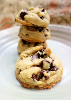 Coconut Oil Chocolate Chip Cookies - swap the butter for coconut oil - delicious!