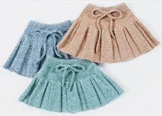 Knitting For Kids, Baby Knitting, Dress Skirt, Skater Skirt, Knit Vest Pattern, Baby Born, Baby Hats, Knit Crochet, Girly