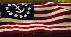 Yes, that's right. It's a nautical American flag afghan, made for my boss by request.   This spring, I finished up a third crochet baby ...