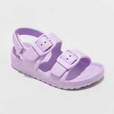 Toddler Girls' Ade EVA Footbed Sandals - Cat and Jack Purple Toddler Girl's Gender: female. Toddler Sandals, Toddler Girl Shoes, Girls Sandals, Baby Girl Shoes, Girls Shoes, Toddler Girls, Baby Sandals, Little Girl Outfits, Cute Outfits For Kids