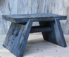 Reclaimed Wooden Stool for Everyday Use Strong by CranberryTiger, $49.00