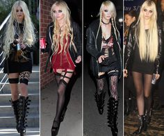 Thigh highs. Taylor Momsen style