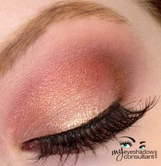 MAC eyeshadows used: Gleam (on lid, below crease) Cranberry (crease)Bronze (outer v) Vanilla (blend)