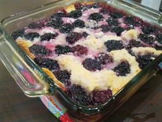 Hi there!   A few of you had asked me to post my skinny blackberry cobbler recipe when I had mentioned it on my Facebook page. It is so simp...
