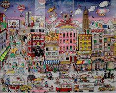 Bargains on Orchard Street - Charles Fazzino City Photo, Cities, Blog, Street, Art, Art Background, Kunst, Performing Arts, Walkway
